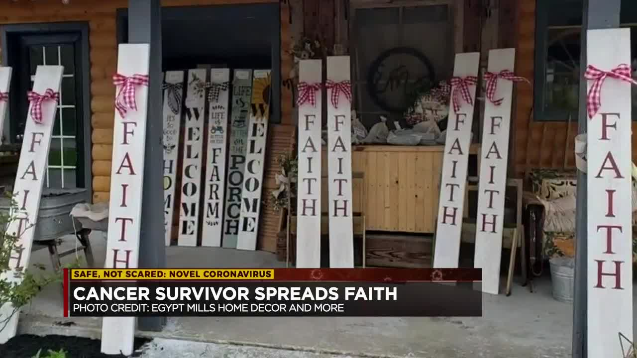 Breast cancer survivor spreads faith with free signs to lift spirits