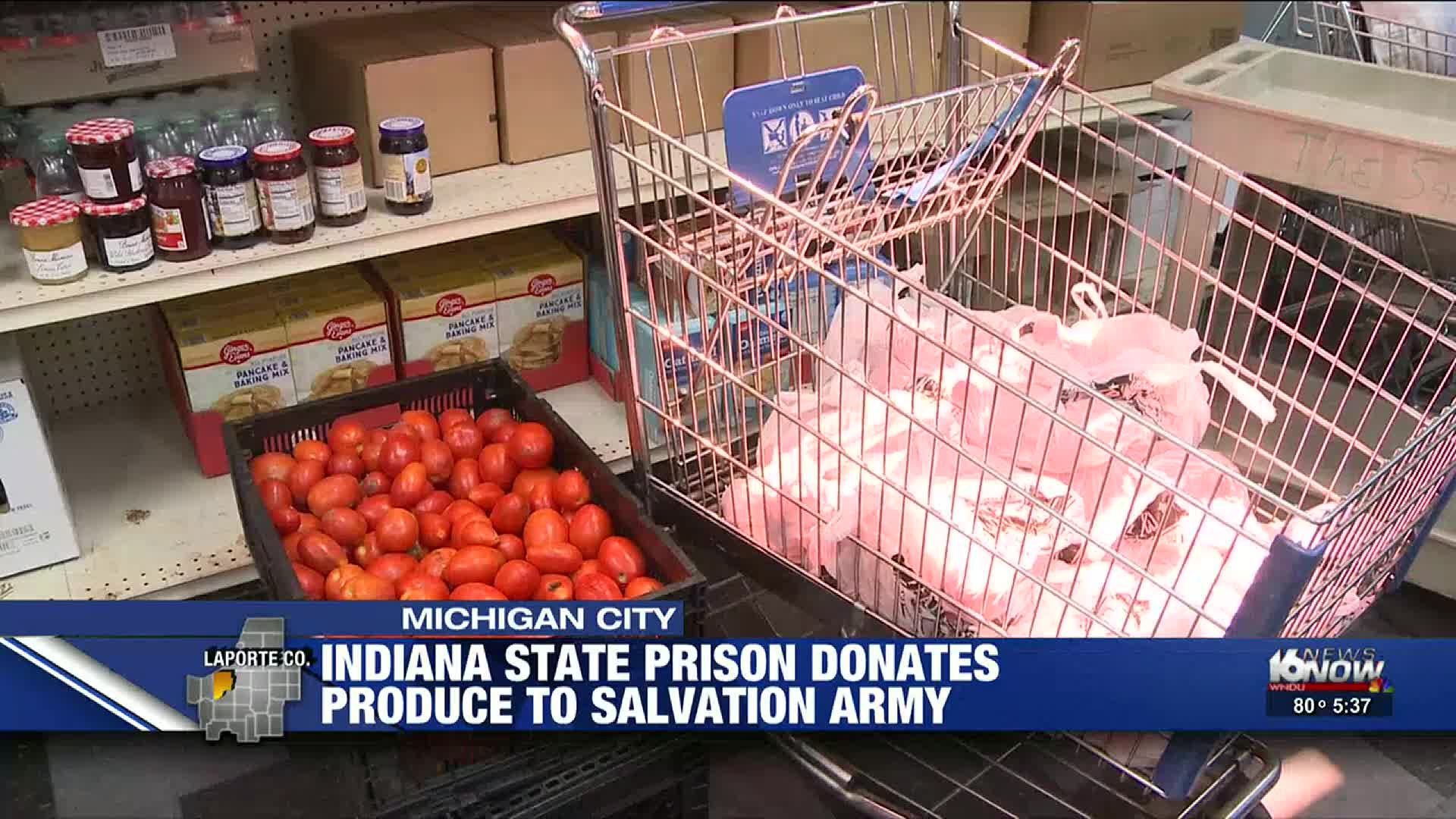 Indiana State Prison Donates Fresh Produce To Michigan City Salvation Army