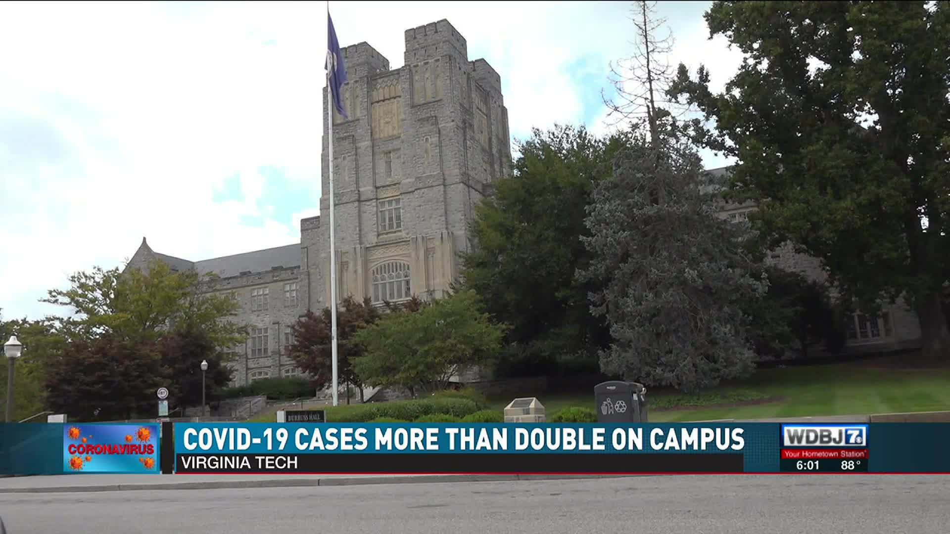 Covid 19 Cases More Than Double On Virginia Tech S Campus
